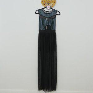 Mystic Sheer Cut Out Long Skirt Sleeveless Dress